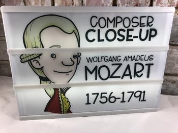 Lightbox Inserts - Composer Close Ups