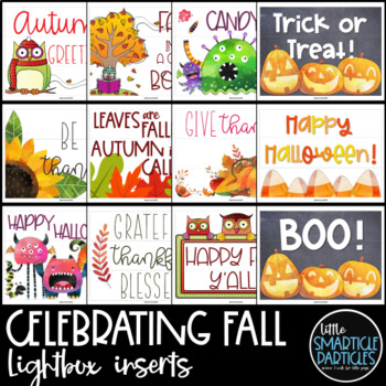 Lightbox Inserts - Fall, Halloween, Thanksgiving