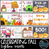 Lightbox Inserts - Fall, Halloween, Thanksgiving