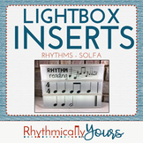 Lightbox Inserts - Rhythms and Solfa