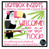 Lightbox Inserts - Tropical Fun
