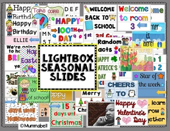 Lightbox Seasonal and Special Day Slides