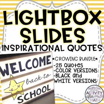 Lightbox Slides Inspirational Quotes