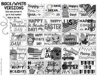 Lightbox Slides USA Holiday Inserts
