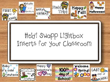 Lightbox Sign Inserts - Year Round Pack