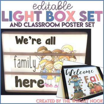 Light Box and Classroom Poster Set