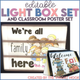 Light Box and Classroom Poster Set EDITABLE