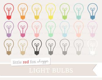 Lightbulb Clipart; Light Bulb, Lamp, Household