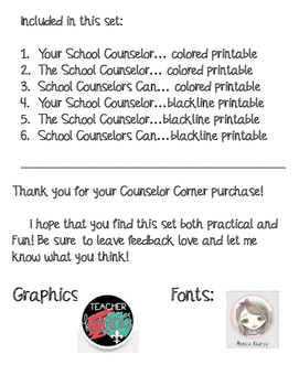 Lightbulb Counseling Poster Set: Your School Counselor Can Help...