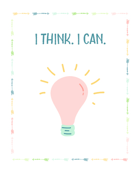 Lightbulb Idea Printable Poster
