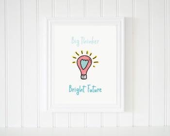 Lightbulb Illustration Classroom Decor