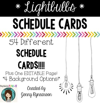 Lightbulb Schedule Cards!!!