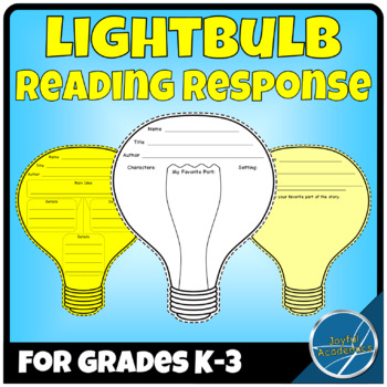 Lightbulb Shaped Reading Response Sheets for Any Book