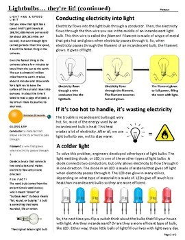 Lightbulbs... They're Liit! - Science Reader for Guided, Shared, or Fun Reading