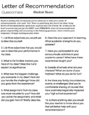 Letter of recommendation for student teaching resources teachers lighten your end of year load w this letter of recommendation questionnaire spiritdancerdesigns Image collections