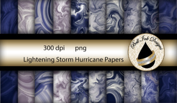 Lightening Storm Hurricane Papers Clipart