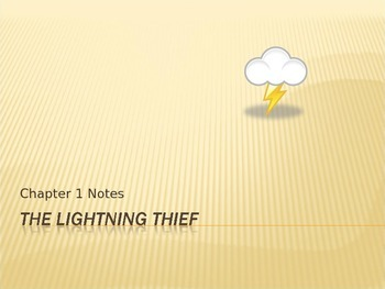 Lightening Thief Chapter 1 Notes