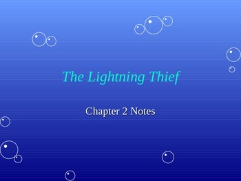 Lightening Thief Chapter 2 Power Point