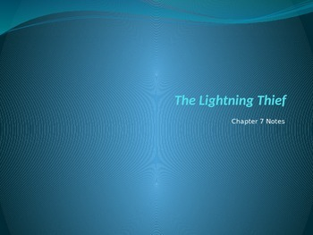 Lightening Thief Chapter 7 Vocabulary PowerPoint