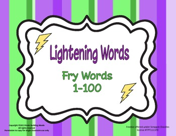 Lightning Words - Fry words 1-100