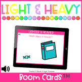 Lighter and Heavier  | Distance Learning | Boom Cards™