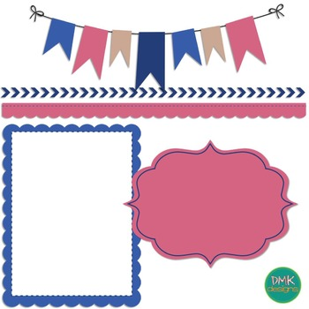 Digital Paper and Frame Set- Lighthearted