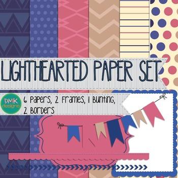 Digital Paper and Frame Set- Lighthearted