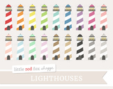 Lighthouse Clipart; Nautical, Sea, Ocean, Light House