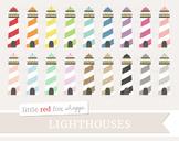 Lighthouse Clipart; Nautical, Sea, Ocean, Light House