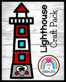 Lighthouse Craft Activity for Summer, Beach Morning Work,