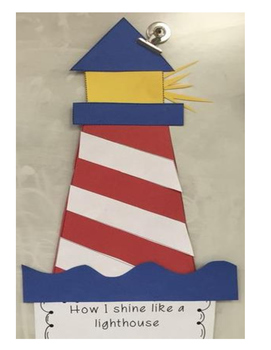 Lighthouse Craft with writing prompt