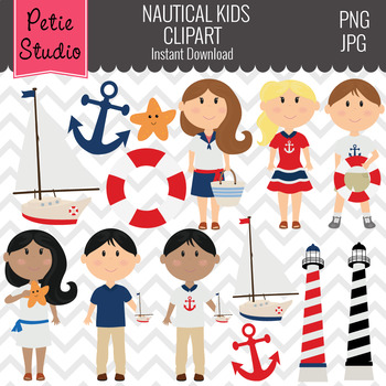 Lighthouse and Nautical Kids Clipart - Kids104