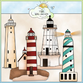 Lighthouses Clip Art - Beach Clip Art - CU Clip Art & B&W