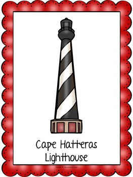 Lighthouses Book to Create, Matching Cards, Posters, QR Code Task Cards