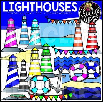 Lighthouses Clip Art Set {Educlips Clipart}