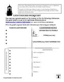 "Lighthouses WebQuest Worksheet for ""Three Skeleton Key"""