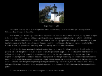 Lighthouses of Oregon PowerPoint