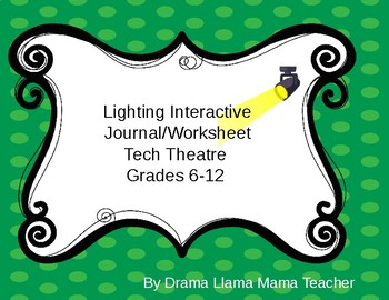 Lighting Unit Interactive Journal/Worksheets