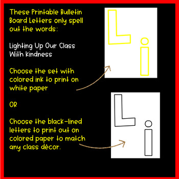 Lighting Up Our Class With Kindness Bulletin Board Set | Christmas Writing Idea