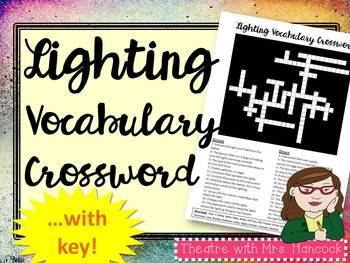 Lighting Vocabulary Crossword
