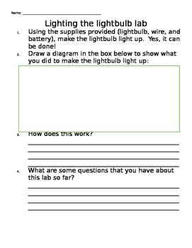 Lighting the Lightbulb Lab