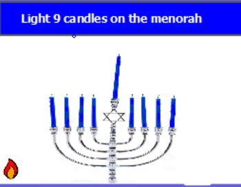 lighting the menorah one to one correspondence by promethian for rh teacherspayteachers com Menorah Template On the Lamps in Front of the Menorah Lamp Stand