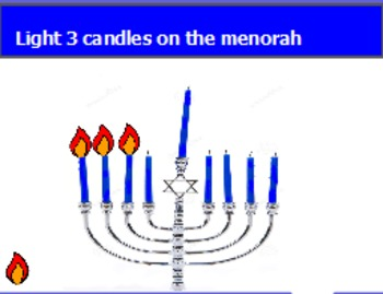 Lighting the menorah (one to one correspondence)