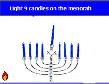Lighting the menorah (one to one correspondence)
