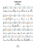 Lightly Row |G| tabs for recorder guitar ukulele harmonica