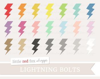 Lightning Bolt Clipart; Storm, Weather
