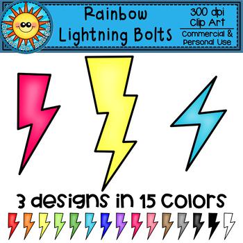 Lightning Bolt Rainbow Clip Art