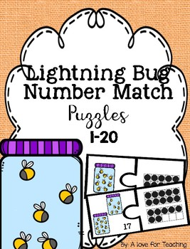 Lightning Bug Number Match Puzzles {1-20}