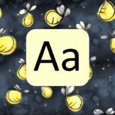 Lightning Bug Theme Alphabet Letters for Display Bulletin Board