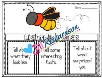 Lightning Bugs Writing